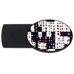 Abstract city landscape USB Flash Drive Oval (4 GB)