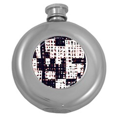 Abstract city landscape Round Hip Flask (5 oz)
