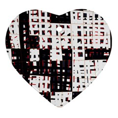 Abstract city landscape Heart Ornament (2 Sides)
