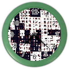 Abstract city landscape Color Wall Clocks