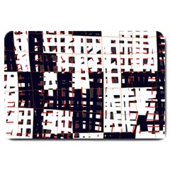 Abstract city landscape Large Doormat