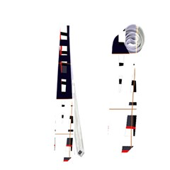 Abstract city landscape Neckties (Two Side)