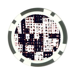 Abstract city landscape Poker Chip Card Guards
