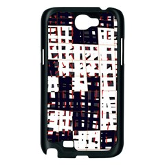 Abstract city landscape Samsung Galaxy Note 2 Case (Black)