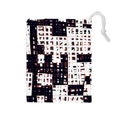 Abstract city landscape Drawstring Pouches (Large)
