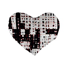 Abstract city landscape Standard 16  Premium Flano Heart Shape Cushions