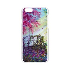 Bench In Spring Forest Apple Seamless iPhone 6/6S Case (Transparent)