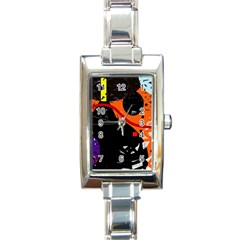 Orange dream Rectangle Italian Charm Watch