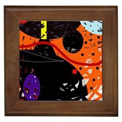 Orange dream Framed Tiles