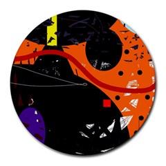 Orange dream Round Mousepads