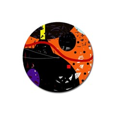 Orange dream Magnet 3  (Round)