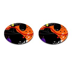 Orange dream Cufflinks (Oval)