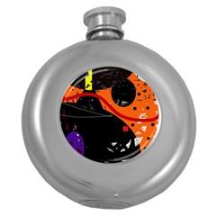 Orange dream Round Hip Flask (5 oz)
