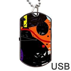 Orange dream Dog Tag USB Flash (Two Sides)