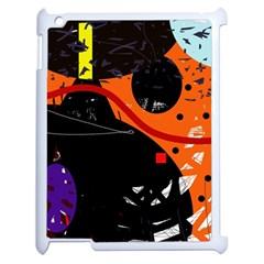 Orange dream Apple iPad 2 Case (White)