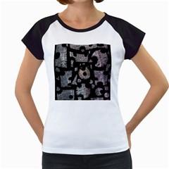 Elegant puzzle Women s Cap Sleeve T