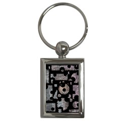 Elegant puzzle Key Chains (Rectangle)