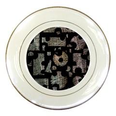 Elegant puzzle Porcelain Plates