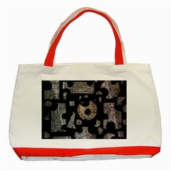 Elegant puzzle Classic Tote Bag (Red)