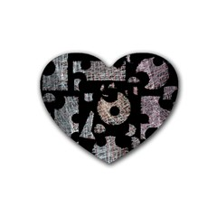 Elegant puzzle Heart Coaster (4 pack)