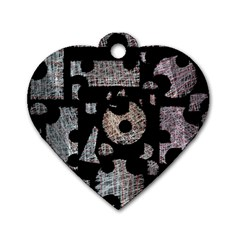 Elegant puzzle Dog Tag Heart (Two Sides)