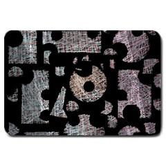 Elegant puzzle Large Doormat