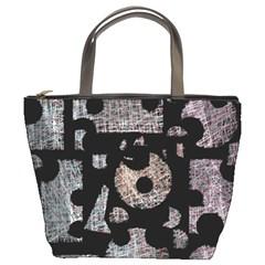 Elegant puzzle Bucket Bags