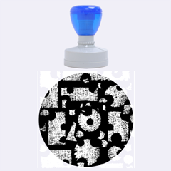 Elegant puzzle Rubber Round Stamps (Large)
