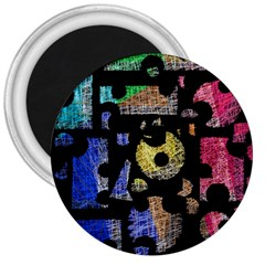 Colorful puzzle 3  Magnets