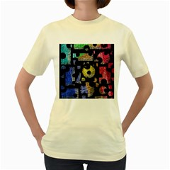 Colorful puzzle Women s Yellow T-Shirt