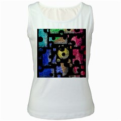 Colorful puzzle Women s White Tank Top