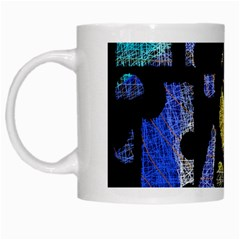Colorful puzzle White Mugs