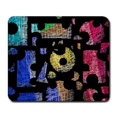 Colorful puzzle Large Mousepads