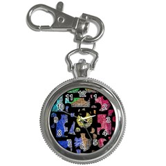 Colorful puzzle Key Chain Watches