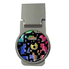 Colorful puzzle Money Clips (Round)