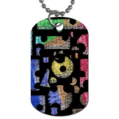 Colorful puzzle Dog Tag (Two Sides)