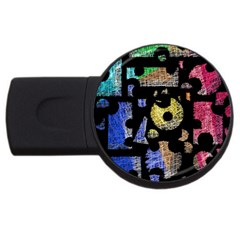 Colorful puzzle USB Flash Drive Round (1 GB)