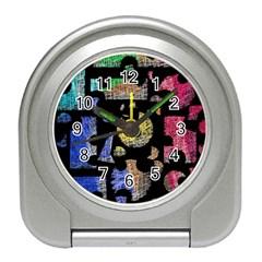 Colorful puzzle Travel Alarm Clocks