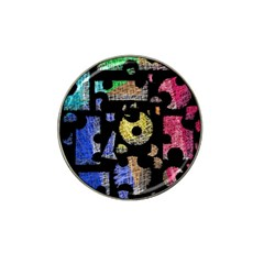Colorful puzzle Hat Clip Ball Marker (4 pack)