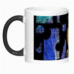 Colorful puzzle Morph Mugs