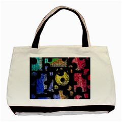 Colorful puzzle Basic Tote Bag
