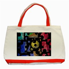 Colorful puzzle Classic Tote Bag (Red)