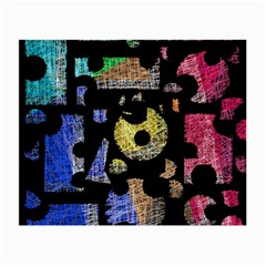 Colorful puzzle Small Glasses Cloth (2-Side)