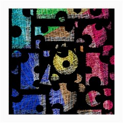 Colorful puzzle Medium Glasses Cloth