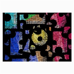 Colorful puzzle Large Glasses Cloth