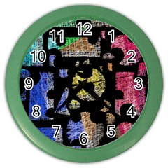 Colorful Puzzle Color Wall Clocks