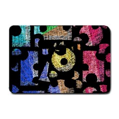 Colorful puzzle Small Doormat