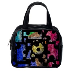 Colorful puzzle Classic Handbags (One Side)