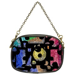Colorful puzzle Chain Purses (One Side)