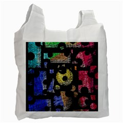 Colorful puzzle Recycle Bag (Two Side)